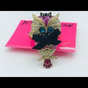 Betsy Johnson Owl Ring
